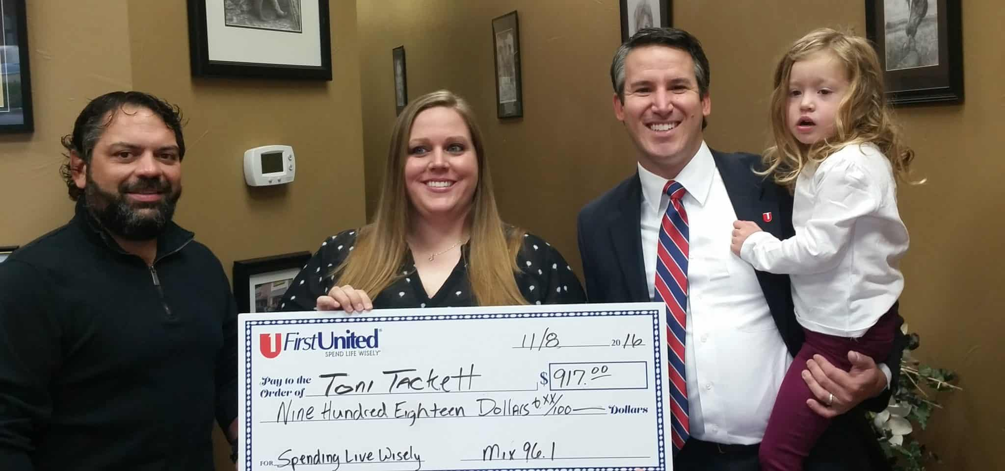 Spend Life Wisely Winner Toni Tackett